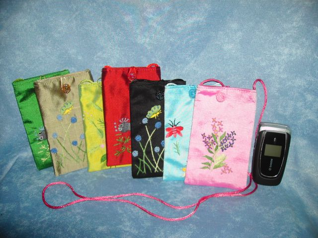 Silk mobile phone case