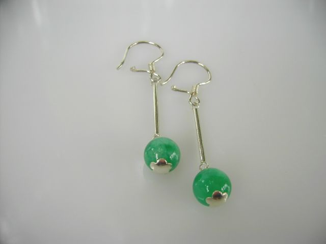 Jade earrings (model 2)