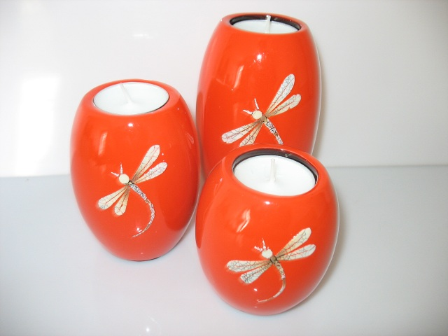 Bougeoir barils - orange