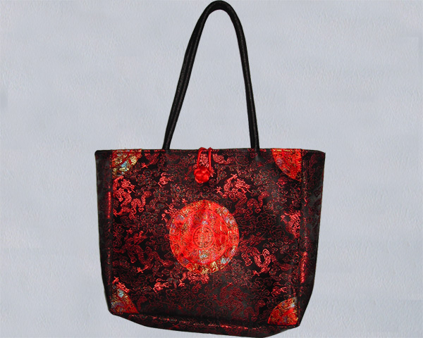 Satin bag, dragon pattern
